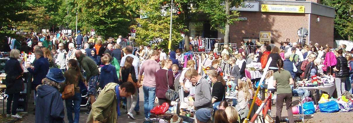Flohmarkt Grelckstrasse Ecke Stichtstrasse