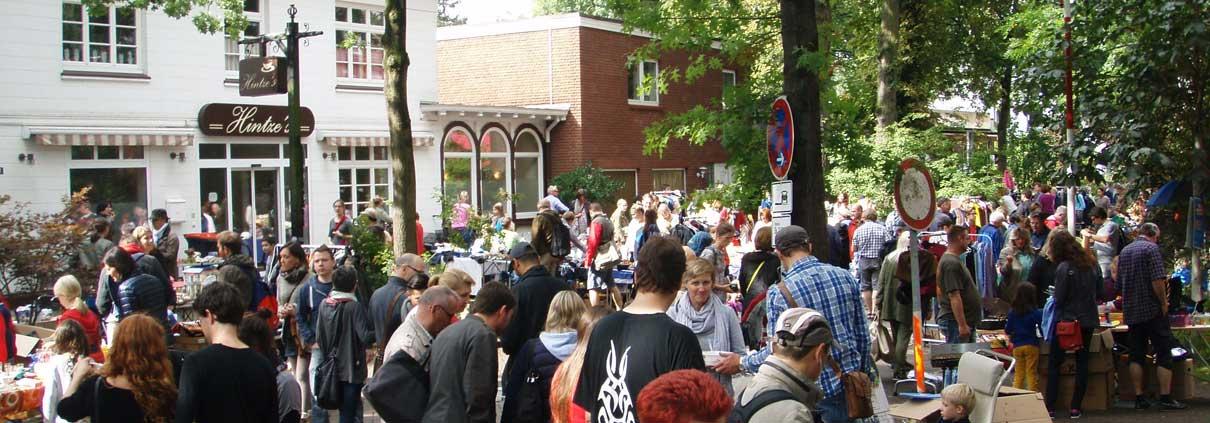 Flohmarkt Grelckstrasse bei Hintze