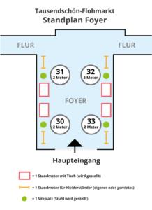 Standansicht-Foyer-Flohmarkt Tausendschön-Kunstklinik