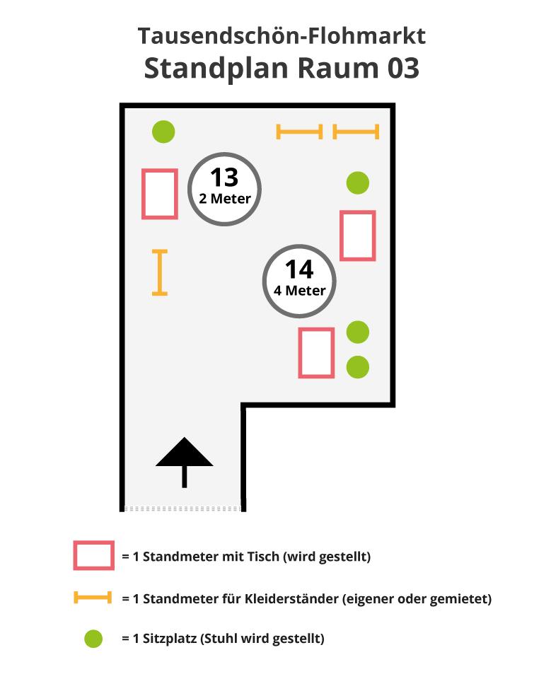 Standansicht-Raum-03-Flohmarkt Tausendschön-Kunstklinik
