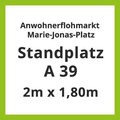 Standplatz A 39 Flohmarkt Marie-Jonas-Platz