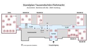 Gesamtuebersicht-Flohmarkt Tausendschön-Kunstklinik